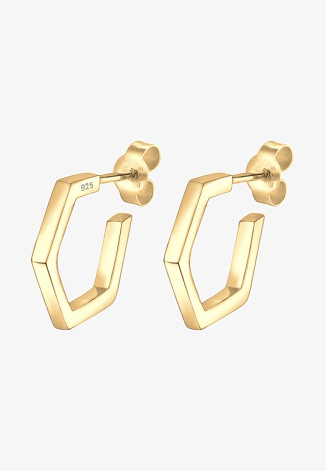 CREOLE HEXAGON GEO MINIMAL - Korvakorut - gold-coloured