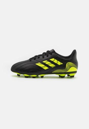 COPA SENSE.4 FXG UNISEX - Moulded stud football boots - core black/solar yellow
