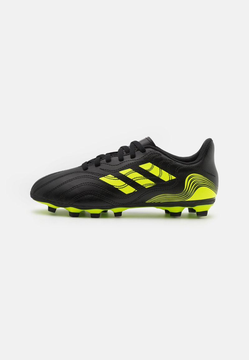 adidas Performance - COPA SENSE.4 FXG UNISEX - Moulded stud football boots - core black/solar yellow
