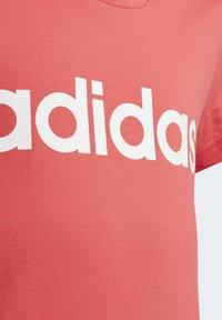 adidas Performance - ESSENTIALS LINEAR T-SHIRT - T-shirt imprimé - pink - 5
