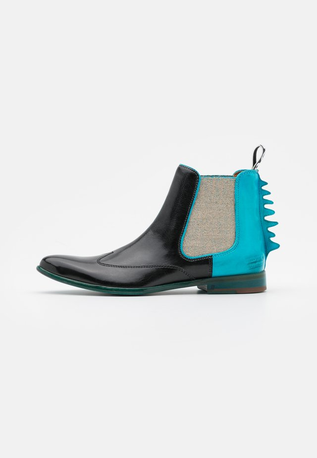 KEIRA  - Nilkkurit - black/turquoise/white/rich tan