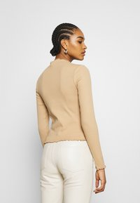 Monki - Long sleeved top - beige - 2