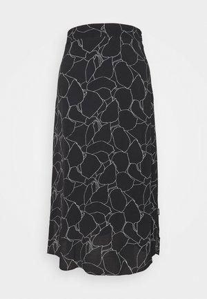 ELASTIC WAIST MIDI SKIRT - Áčková sukně - black