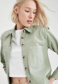 DeFacto - Button-down blouse - green - 3