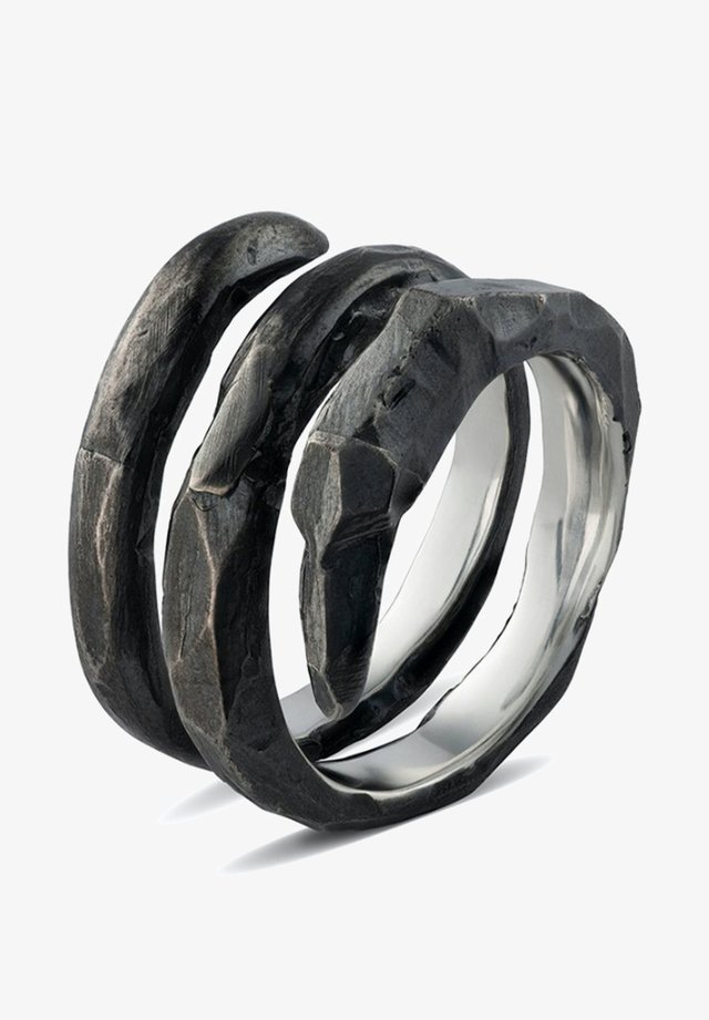 SPIRAL CLAW - Ring - oxidized silver
