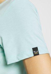 Salewa - GRAPHIC TEE - T-shirt print - canal blue melange - 4