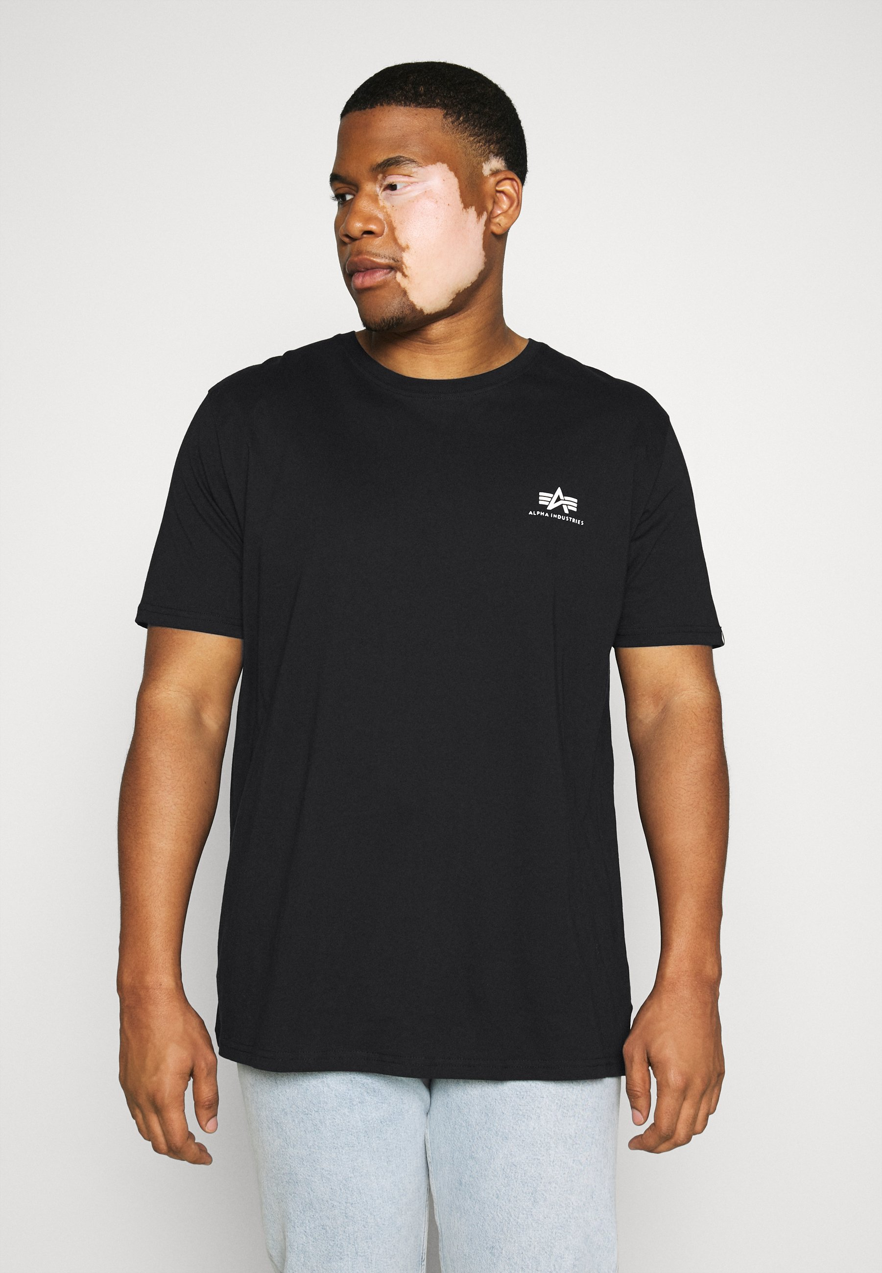 Alpha Industries BACK PRINT - Print T-shirt - black pnjVQ