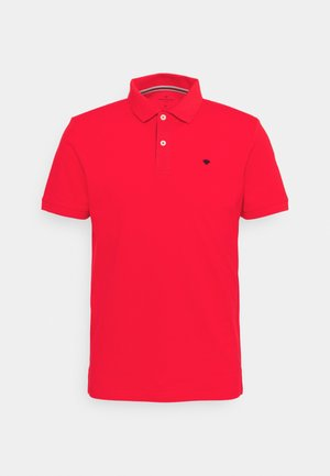BASIC WITH CONTRAST - Polo - powerful red