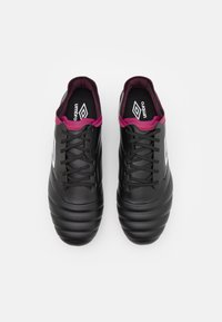 Umbro - TOCCO PREMIER FG - Moulded stud football boots - black/white/raspberry radiance/pink peacock - 3