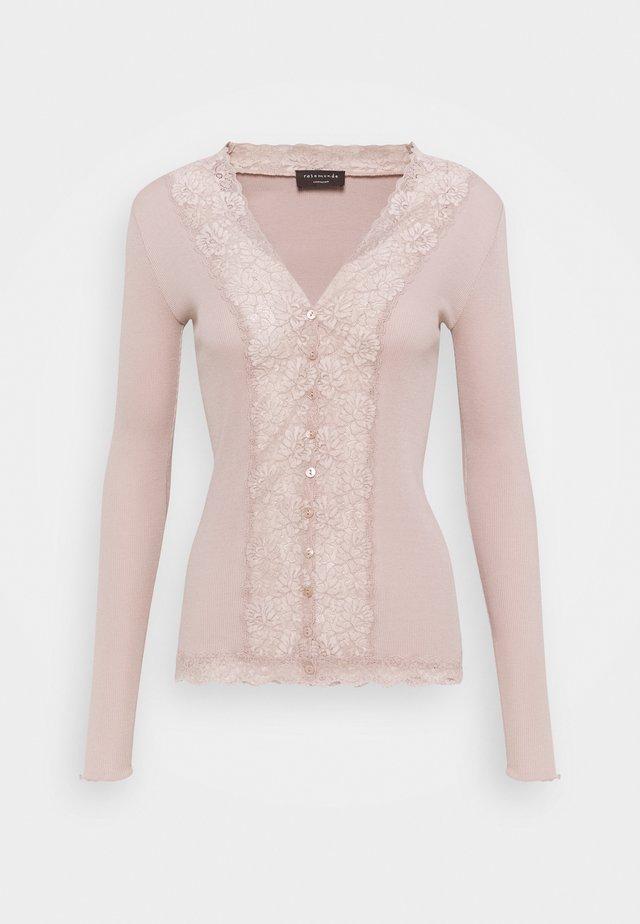 ORGANIC CARDIGAN - Vest - vintage powder