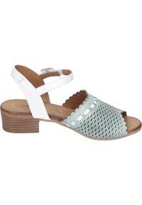 Piazza - Sandals - aqua/weiß/sand - 5