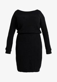Even&Odd Curvy - Jumper dress - black - 5