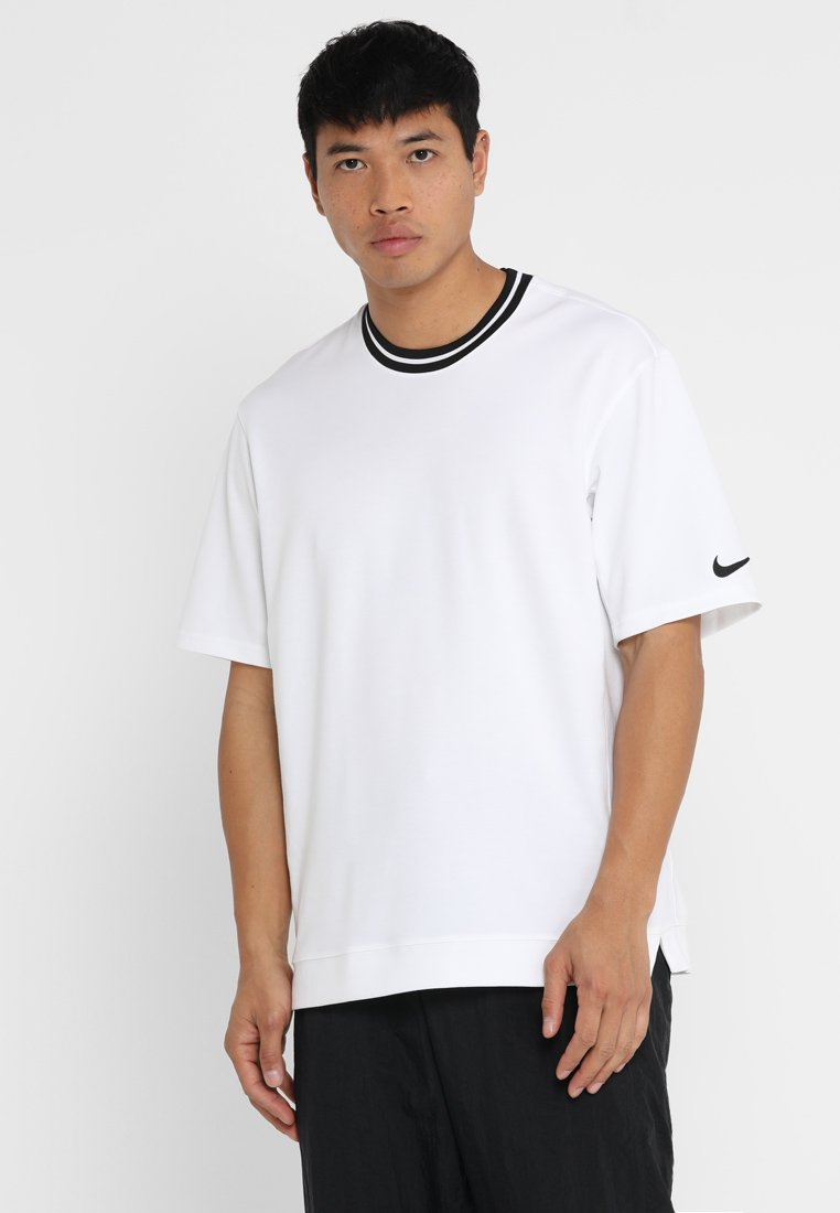 Nike Performance - DRY HOOP FLY - Print T-shirt - white/black