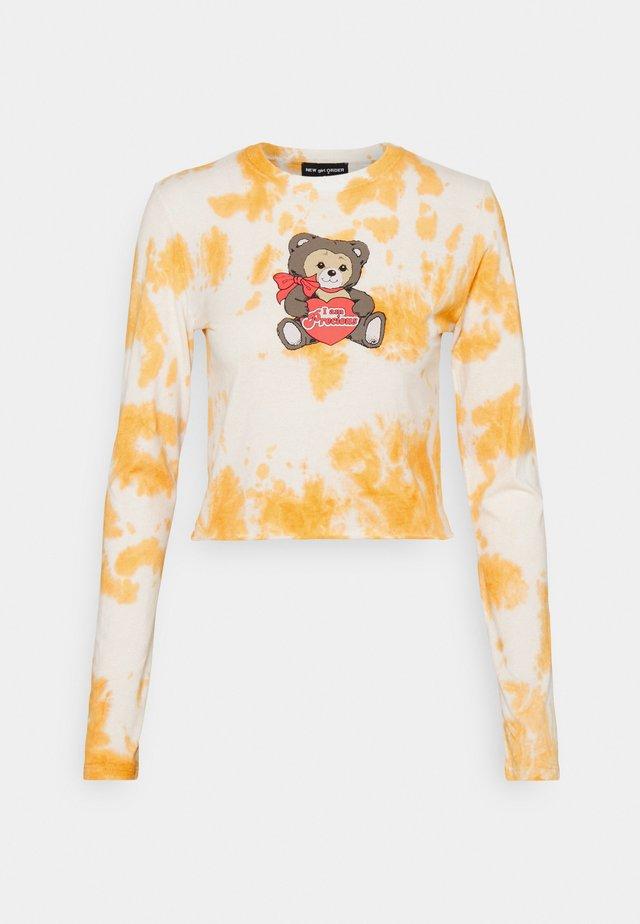 PRECIOUS TEDDY TIE DYE - Langærmede T-shirts - rust