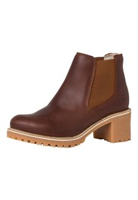 Tamaris - Ankle boots - cognac pull up - 3