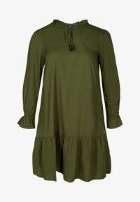Zizzi - Day dress - army - 1