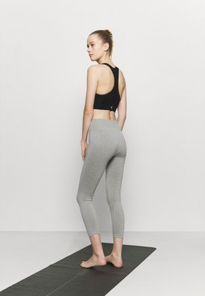 HIGH WAIST CONTRAST SEAMLESS - Leggings - grey