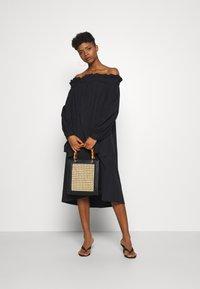 Gina Tricot - KAMILA OFFSHOULDER DRESS - Sukienka letnia - black - 1