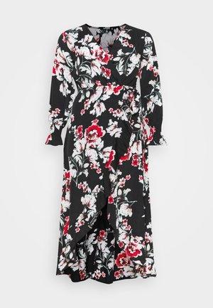 WRAP HIGH LOW MAXI DRESS - Day dress - multi