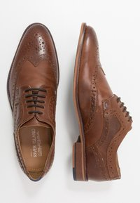 River Island - Elegantní šněrovací boty - dark brown - 1