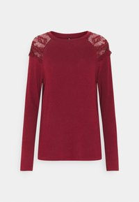 ONLY - ONLKIRA MIX - Long sleeved top - pomegranate - 4