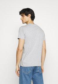Schott - LOGO 2 PACK - Print T-shirt - black/heather grey - 2
