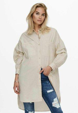 Button-down blouse - pumice stone