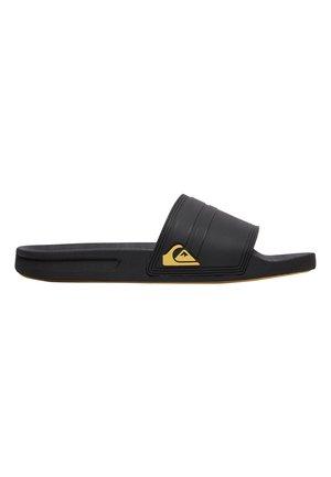 RIVI SLIDE - Pool slides - black/yellow