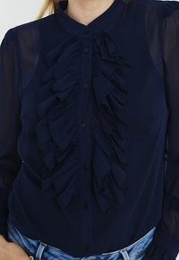 PULZ - PXSTARBLUE SHIRT - Button-down blouse - dark sapphire - 4