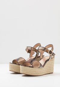 PARFOIS - Sandály na vysokém podpatku - multicolor/brown - 4