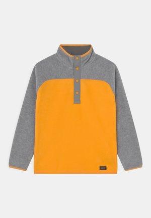 SPARK UNISEX - Fleecová mikina - gray heather/cadmium yellow