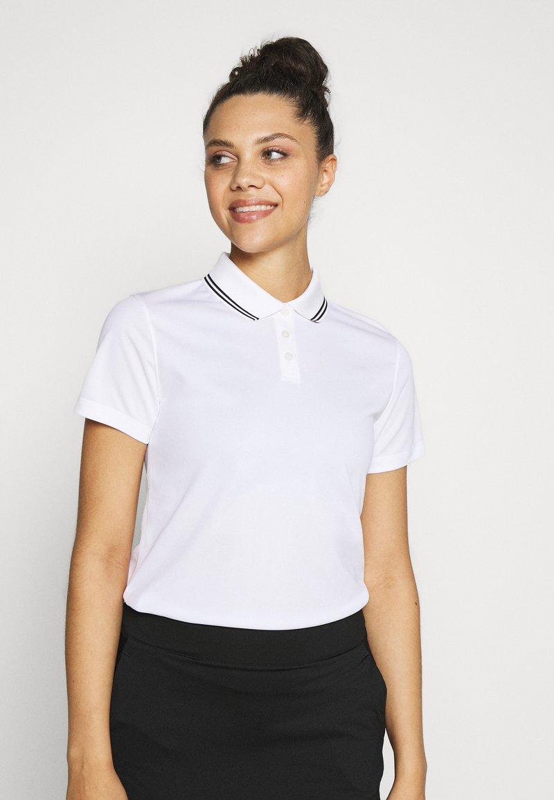Nike Golf - DRY VICTORY - Funkční triko - white/black