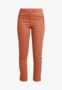 Yargici - FRONT CUT DETAILED TROUSERS - Chinos - bordeaux - 4