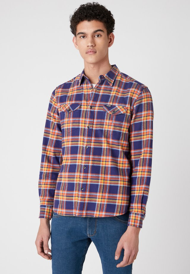 LS 2PKT FLAP - Camicia - patriot blue