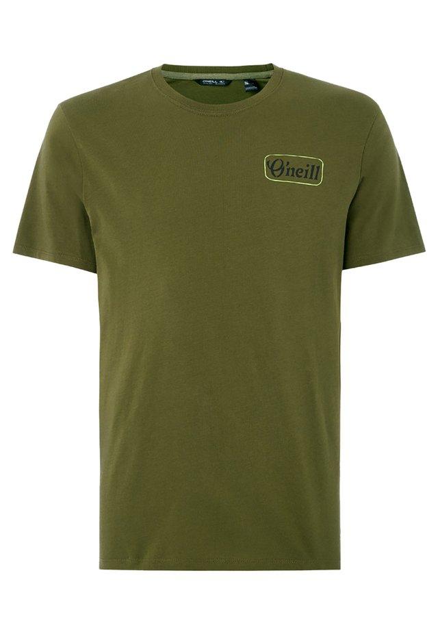T-shirt imprimé - grun