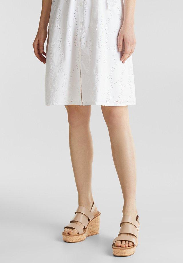 KORSY BAND - Sandály na vysokém podpatku - beige