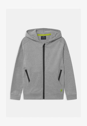FRONT - Zip-up hoodie - grey
