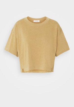 BOXY SLIT TEE - Basic T-shirt - vintage camel