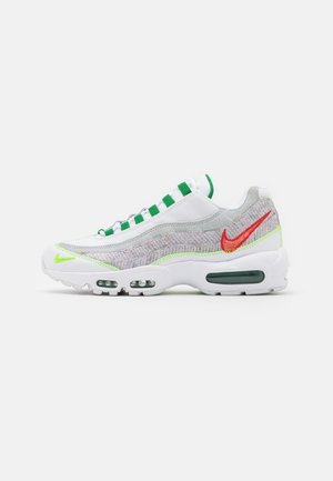 AIR MAX 95 UNISEX - Sneakersy niskie - white/classic green/electric green