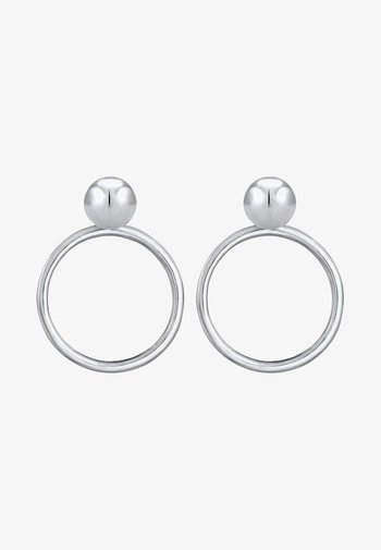 CIRCLE BASIC - Earrings - silver-coloured