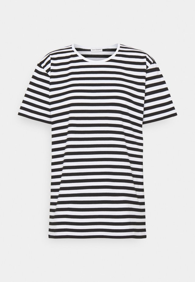 LYHYTHIHA - T-shirt imprimé - black/white