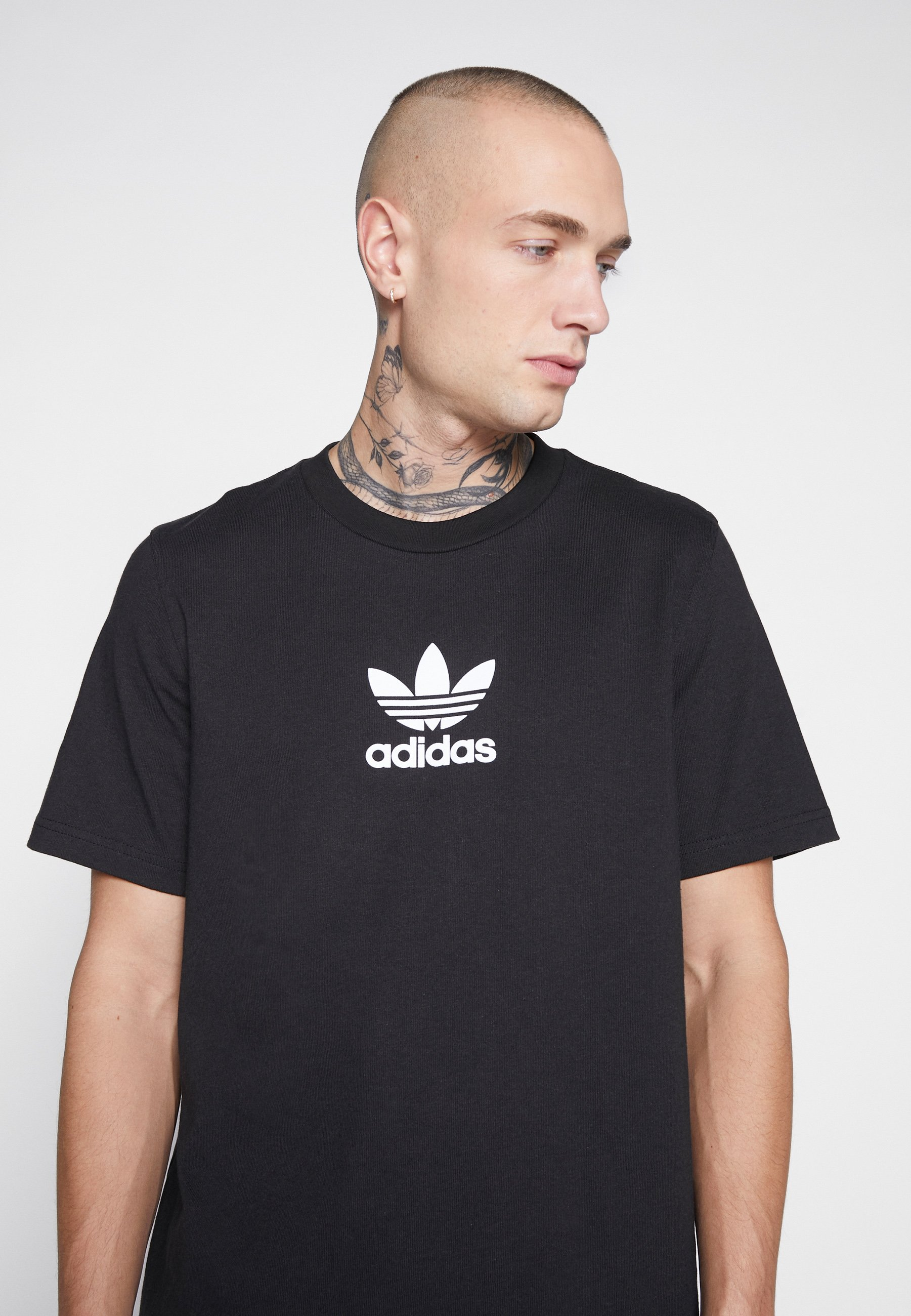 adidas Originals ADICOLOR PREMIUM SHORT SLEEVE TEE - Print T-shirt - black VSR6K
