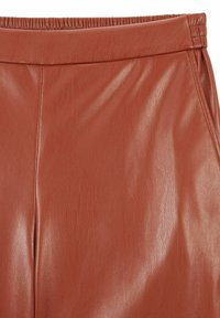 BOSS - TAOMIE - Leather trousers - brown - 1