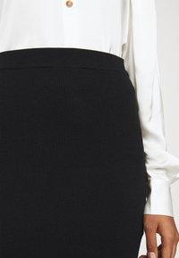 DESIGNERS REMIX - MANDY SLIT SKIRT - Pencil skirt - black - 5