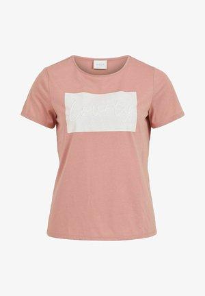 Print T-shirt - old rose