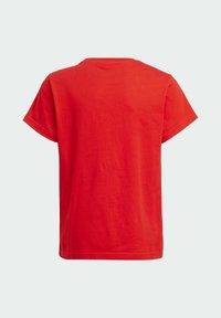 adidas Originals - TREFOIL TEE - T-shirt z nadrukiem - red/white - 1