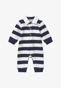 Tommy Hilfiger - BABY RUGBY STRIPE COVERALL - Combinaison - blue - 2