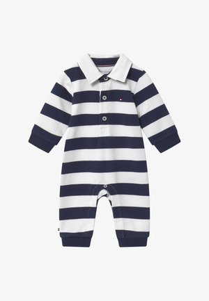 BABY RUGBY STRIPE COVERALL - Jumpsuit - blue