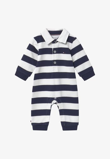 BABY RUGBY STRIPE COVERALL