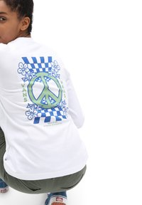 Vans - WM PEACE PROPERTY LS BF - Long sleeved top - white - 1